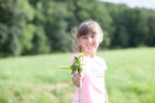 Oh... and the girls picked flowers too!