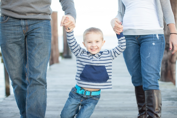 He was so excited to have Mom and Dad swing him around, and I got the best photos of him smiling because of it!