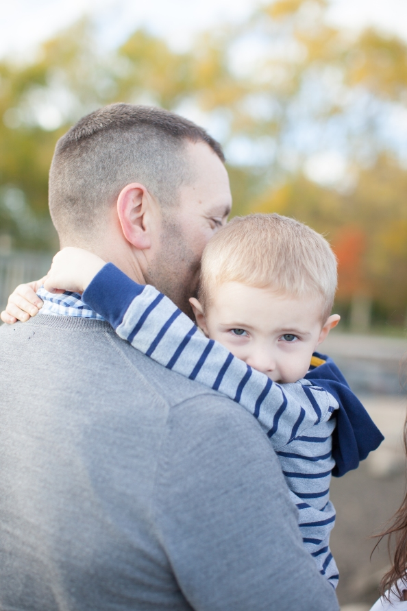 This little man sure does adore his Daddy!